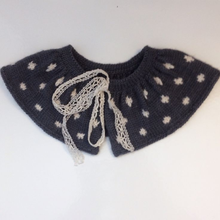 The Collar from Charlott Pettersens ministrikk. Fun to knit and pretty to wear. http://ministrikk.no/en/product/collar/