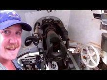 Inside a Australian Veteran M3 Stuart Tank at Brookton, Western Australia