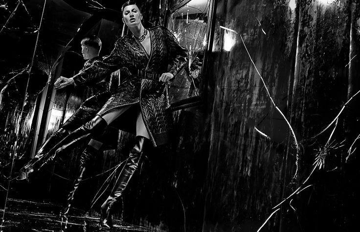 Balenciaga  FALL WINTER 2014 Campaign   Image #5   Photographer: Steven Klein   Model: Gisele Bündchen   www.balenciaga.com