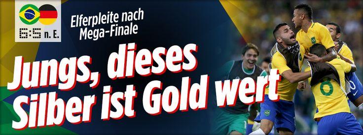 Olympia Fussball --- Brasilien - Deutschland 1:1/ 5:4 n.E.