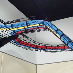 Must have: Ceiling cable tray! (and colourfull cables!) for lighting, electronics appliance, phone, optic, cctv lines, etc.
