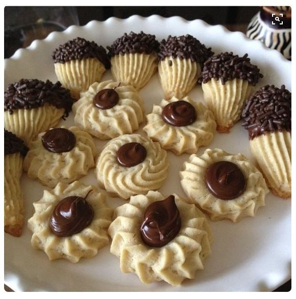 Italian Spritz Cookies With NUTELLA and Chocolate