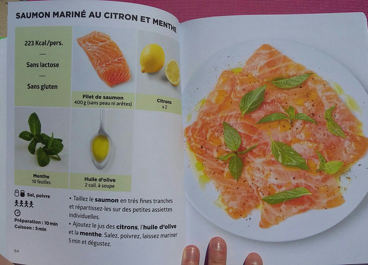 Saumon marin au citron et la menthe simplissime light for La cuisine simplissime light