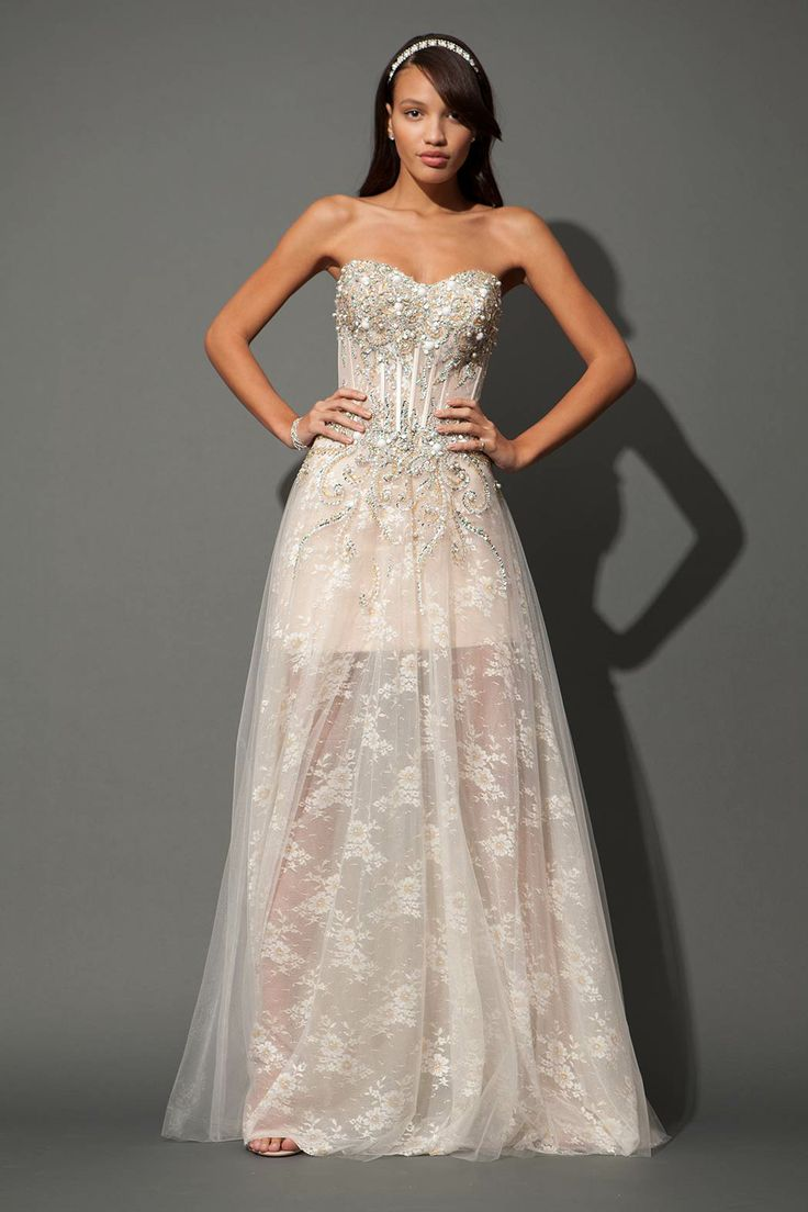 Long Jovani lace grad dress