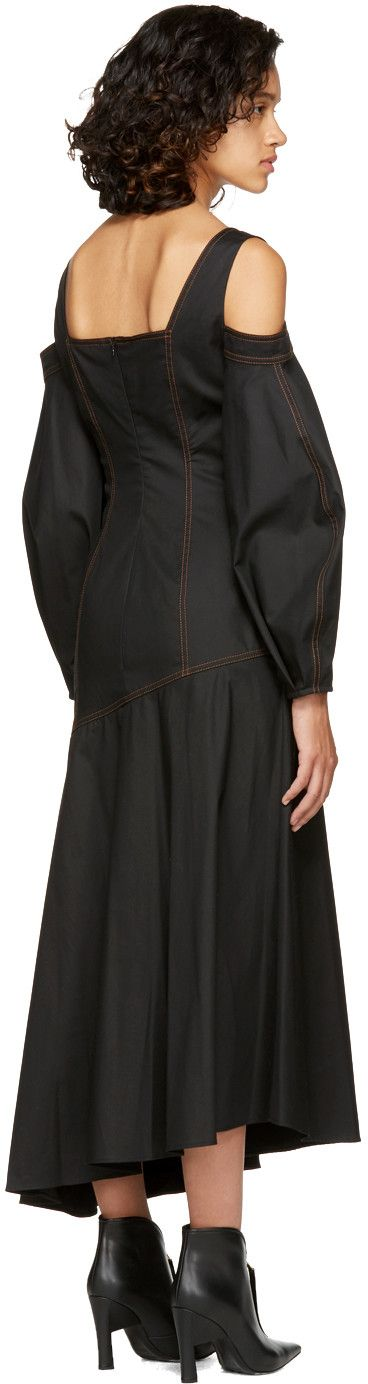Ellery - Black Mississippi Off-the-Shoulder Dress