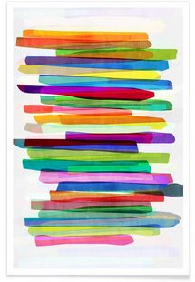 Colorful Stripes 1 - Mareike Böhmer - Premium Poster