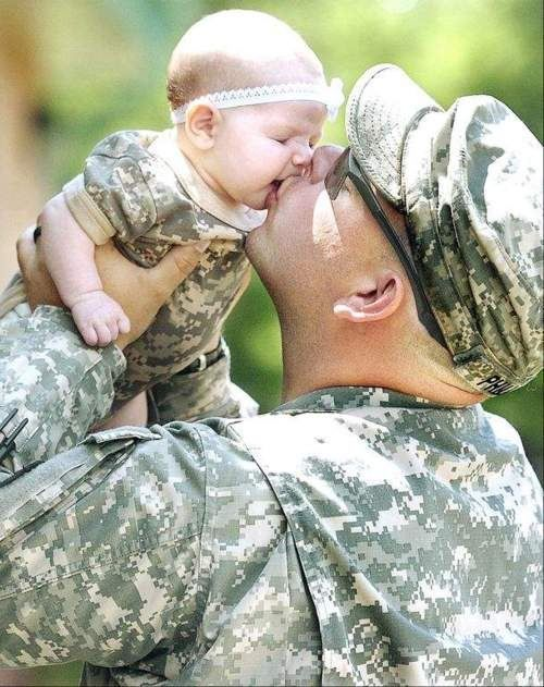 Precious! make me cry see this, remeber when my husband was gone on deployment and not being around when my daughter was born. The feeling i got when he finally got to see his daughter when she was three months old. Her and i stand there watch him walk throught the doors, all i could do was cry mu eyes out..Best feeling ever. Love you babe..