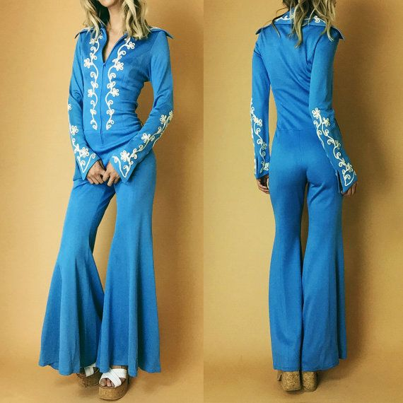 1970's Vintage Disco Jumpsuit From Frederick's Of Hollywood