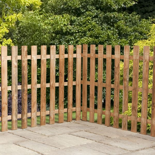Cedar Picket Fence Spaced panels - 3