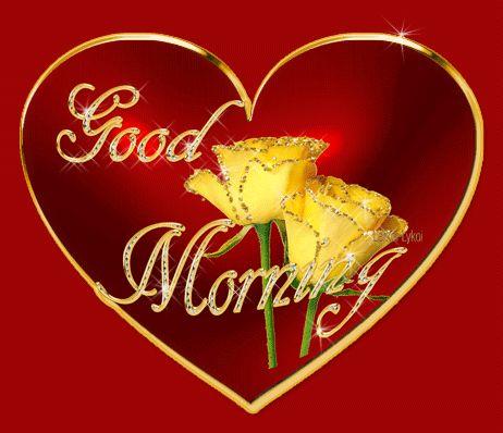 304 best good morning gifs images on pinterest bonjour good beautiful animated good morning romantic heart love wish m4hsunfo