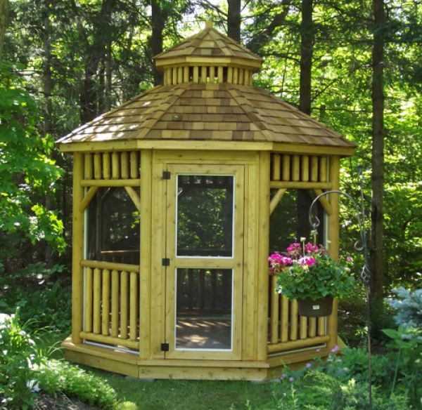 19 best gazebo kits and hot tub shelters images on for Rustic gazebo kits
