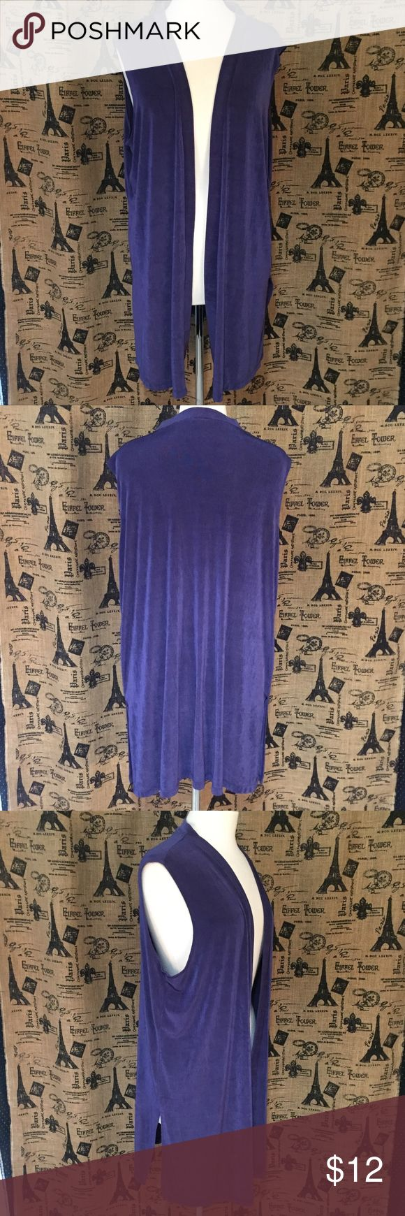 "Cityknits Purple Open Cardigan Top Size 1X Brand: Cityknits Size: 1X Description: Open sleeveless cardigan style top, needs a good steaming Condition: Very Good **Size tags vary, check measurements** Bust: 48"" Length: 32.5"" If more measurements are needed, please don't hesitate to ask! Bundle Discount Available! Reasonable offers welcome! No trades please.. Thanks for stopping by!! #Poshmark #Poshmarkapp #Poshmarkcloset Item #1963 Cityknits Tops Blouses"