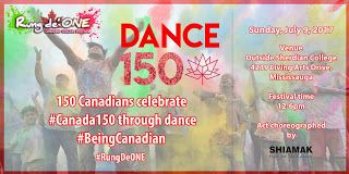 150 Dancers come together for an electrifying dance tribute to Canada 150 at the Canadian Colour Festival Rung De ONE this Sunday July 9   On Sunday July 9th the Greater Toronto Area will celebrate the spirit of Being Canadian with a bang at the Canadian colour festival RUNG DE ONE (RDO). One hundred and fifty Canadian dancers and dholis will participate in DANCE 150 a unifying celebration for Canada 150 in the heart of the City of Mississauga.   Rung De' ONE is a pioneer interactive event…