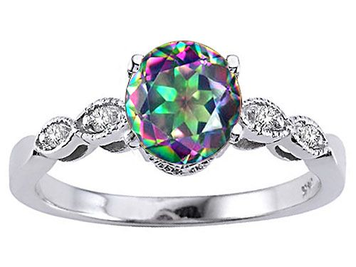 Mystic Topaz #Engagement #Ring