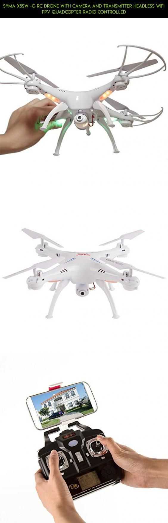 SYMA X5SW -G RC Drone with Camera and Transmitter Headless Wifi FPV Quadcopter Radio Controlled #drone #parts #tech #products #fpv #camera #shopping #cheerson #plans #kids #racing #drones #technology #gadgets #kit #for