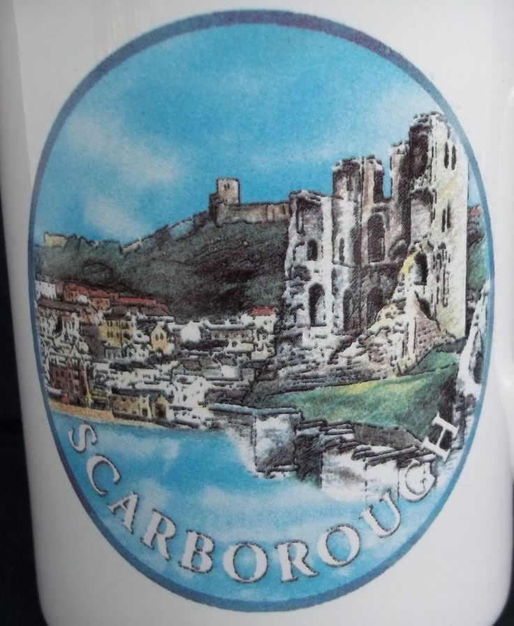 Scarborough Castle Coffee Tea Mug Cup Tams Made in England Yorkshire