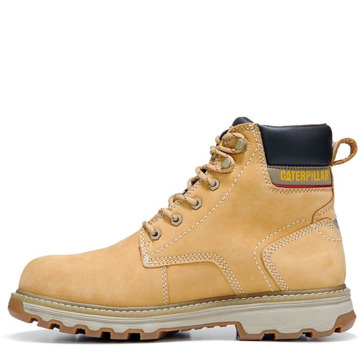Caterpillar Men's Precision Medium/Wide Waterproof Composite Toe Boots (Honey Leather)