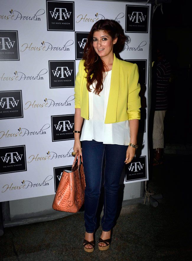 Twinkle Khanna hosted the new collection launch by the online shopping store houseproud.in, at her store 'The White Window'.