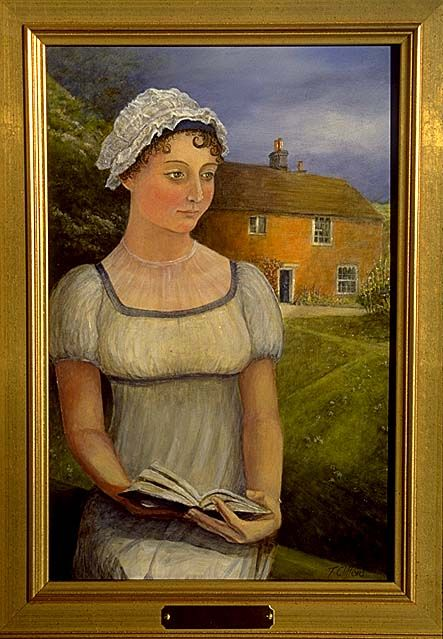 Jane Austen's portrait in Chawton House