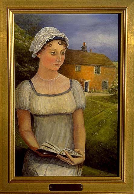 Jane Austen's portrait in Chawton House