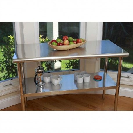 This Stainless Steel Prep Table is a high quality all stainless steel table that is great for your indoor, outdoor, kitchen, or garage needs.