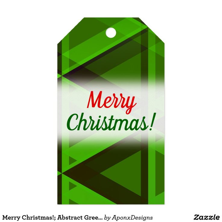 Merry Christmas!; Abstract Green Triangles Pattern