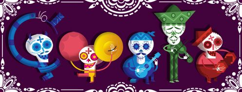 Day of the dead/ Dia de los muertos  http://www.google.com.mx/logos/2012/Day-Of-The-Dead-12-hp.jpg