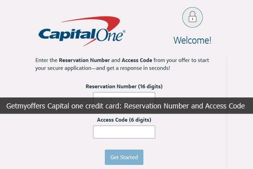 Getmyoffers Capital one credit card: Reservation Number and