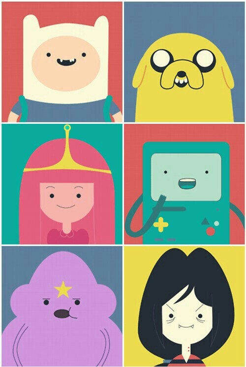 время приключений персонажи с именами и картинками