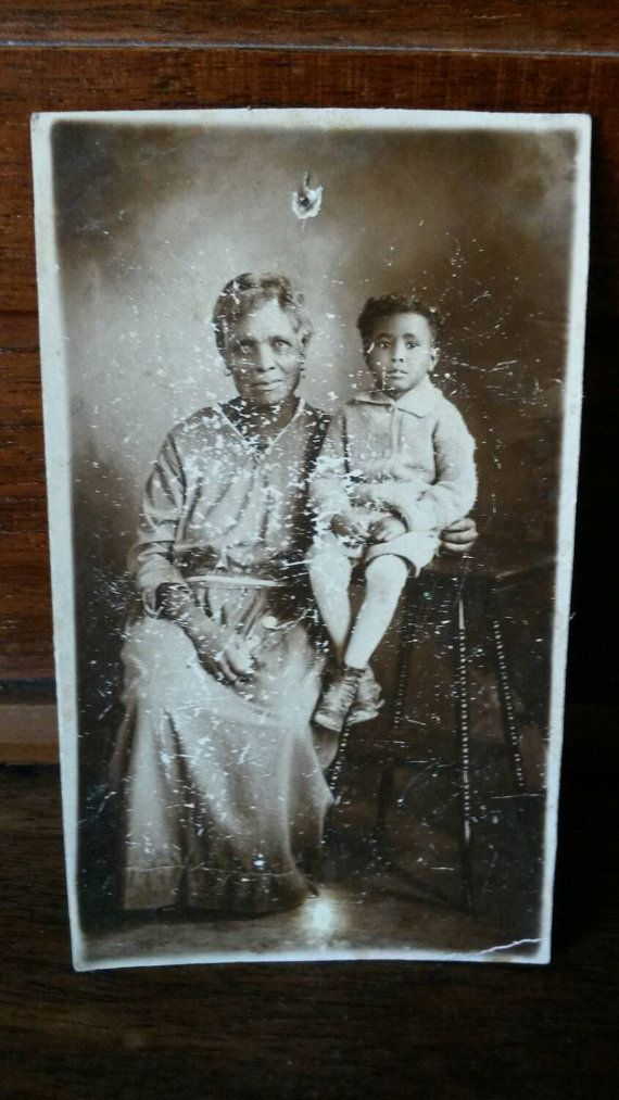 African Boy Names: Real Photo Postcard Of African American Baby And Photo Of