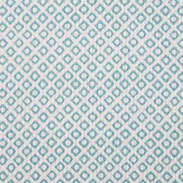 Estampado geométrico em azul turquesa e branco. Ideal para almofadas.