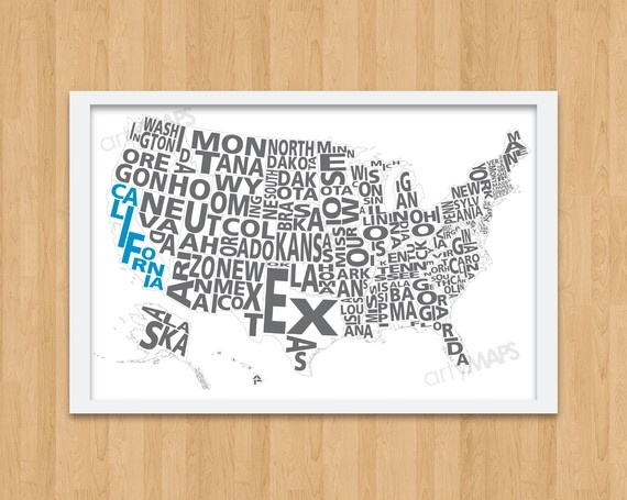 map of usa... love maps!