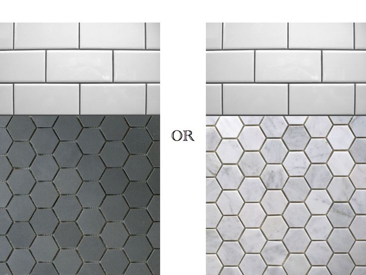 Black And White Hexagon Bathroom Tile Hexagon Tile Bathroom Floor