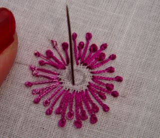 Anything Creative: French Knot - Hand Embroidery