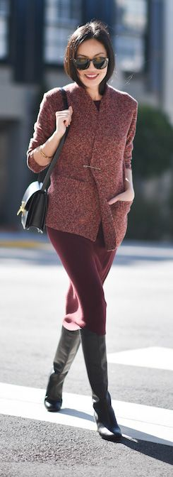 high style   street style   fashion blog   pencil skirt   winter outfit ideas