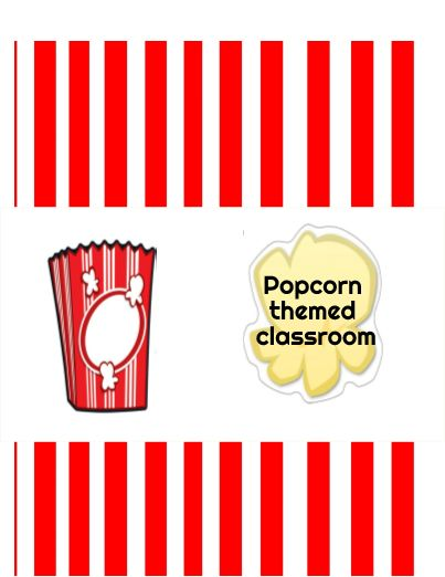 Get ready for Back to School with these Popcorn Theme classroom accents!
