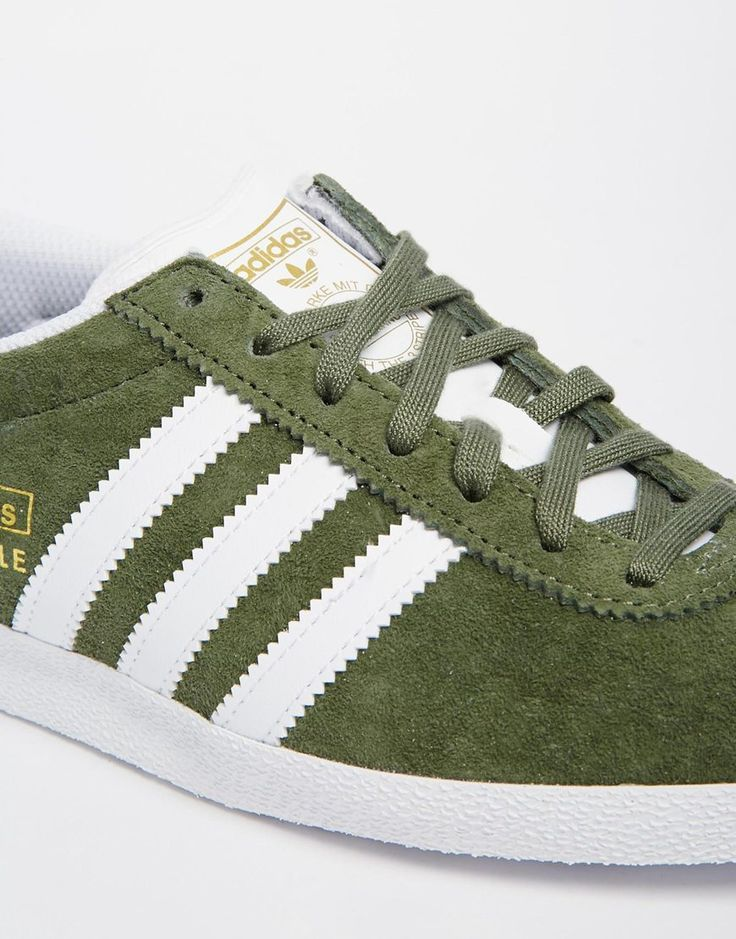 Image 4 - Adidas Originals - Gazelle - Baskets - Kaki et blanc