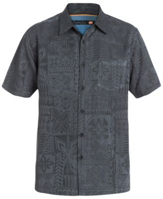 Quiksilver Waterman Men's Aganoa Bay Tropical-Print Short-Sleeve Shirt  | macys.com
