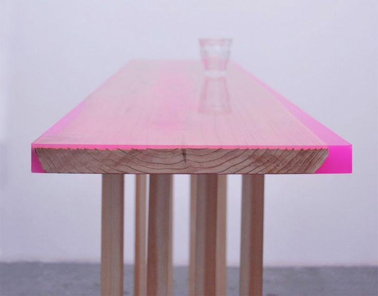 table-design-bois-fluo
