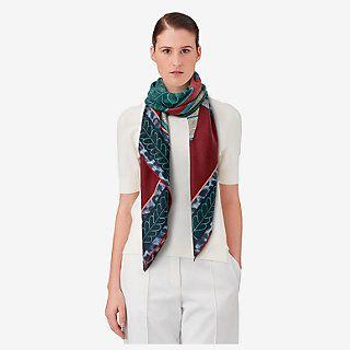 Selle d'Officier en Grande Tenue cashmere shawl 140 - worn