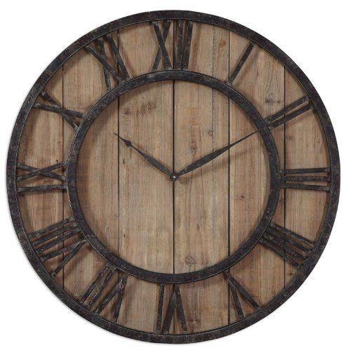 Uttermost 06344 Powell Wooden Wall Clock  #06344 #Clock #Powell #RusticWallClock #Uttermost #Wall #Wooden The Rustic Clock