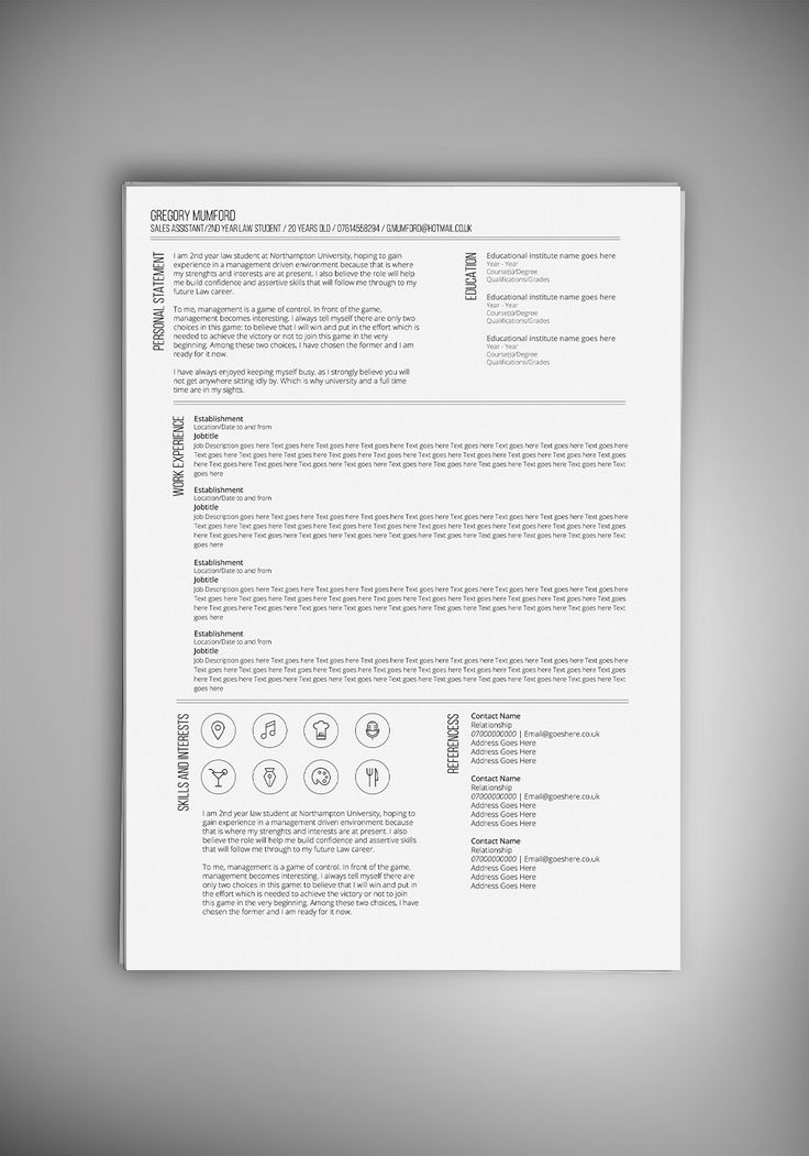 67 best resume images on Pinterest Resume templates, Curriculum - drafting resume examples