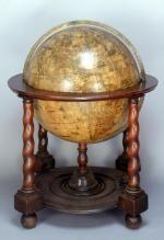Terrestrial floor globe, Willem Blaeu, c. 1650 - National Maritime Museum