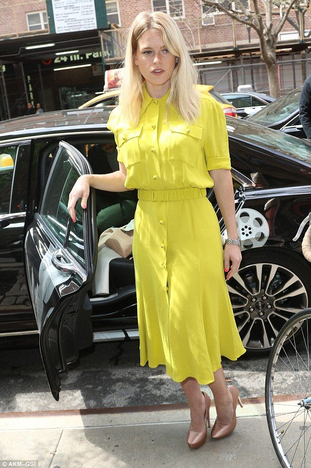 Mellow in yellow: Alice Eve proved her own star quality as she stepped out in New York on Thursday