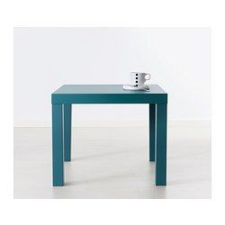 LACK Side table - grey-turquoise - IKEA - Various colours - cheap bedside  tables?