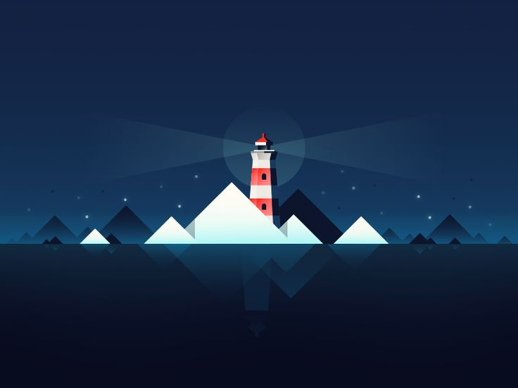 Lighthouse by Paulius - Dribbble