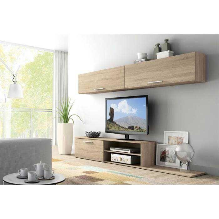 Grand Meuble Tv Avec Rangement Meuble Tv Quasaco Mural 424 Achat