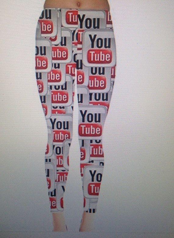 Youtube Logo Leggings by AlohaWorks on Etsy