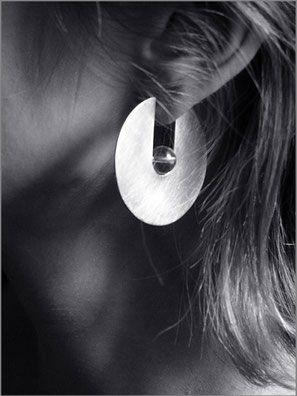 Boucles d'oreilles Oxus - argent et cristal de roche - Nelly Chemin - bijoux…