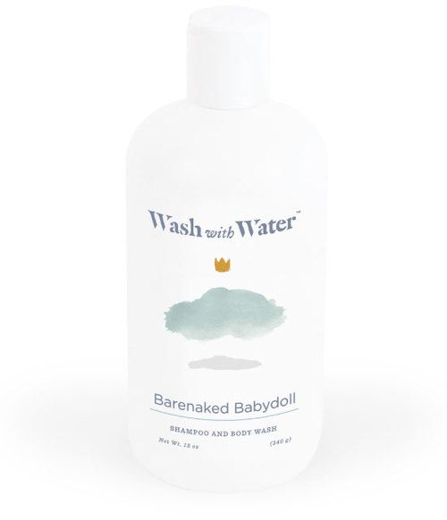 Barenaked Babydoll shampoo: expecting mama?  Wash with Water® designs beautiful hair and skincare products for newborn on up that cleanse, hydrate and protect sensitive skin without harmful chemicals. Enjoy for all your baby registry bath time needs    Physician Approved Allergy Friendly Naturally Non-Toxic Eco Friendly